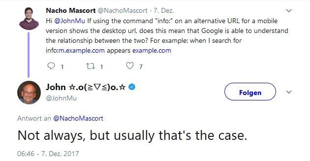Beziehung Mobile und Desktop Version Google Serp