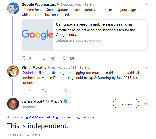 Speed Update Google
